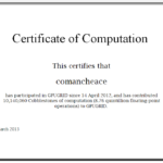 GPUGRID Certificate of Computation 2