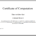 GPUGRID Certificate of Computation 3