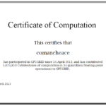 GPUGRID Certificate of Computation