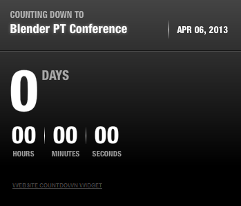 Countdown to Blender PT Conference