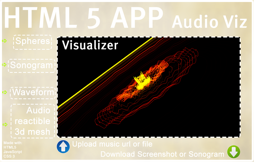 Layout Study for an HTML5 App for Audio Visualization