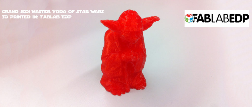 Grand Jedi Master Yoda of Star Wars 3D Printed in: Fablab EDP